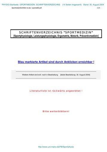 Sportphysiologie, Leistungsphysiologie, Ergometrie, Motorik