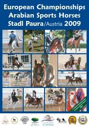 European Championships Arabian Sports Horses Stadl ... - SZAP
