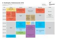 Stundenplan Herbstsemester 2012
