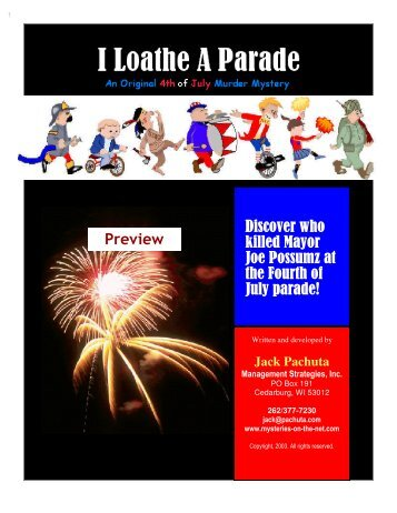 4th of July Murder Mystery Party Kit - Mysteries on the Net