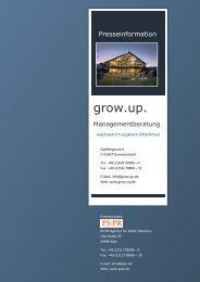 Pressemappe grow.up. Managementberatung - PS:PR