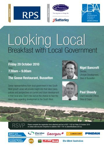 Breakfast with Local Government - Urban Development Institute of ...