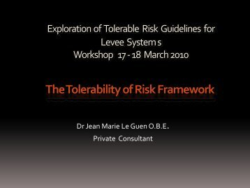 Exploration of Tolerable Risk Guidelines for Levee Systems