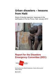 DEC, Urban disasters - lessons from Haiti - alnap