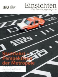 Stadtfahrt - Perspektiven der Metropole - Ludwig-Maximilians ...