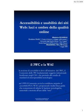 Accessibilità e usabilità dei siti Web - Icomit.it