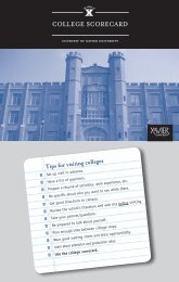 College SCoreCard - Xavier University