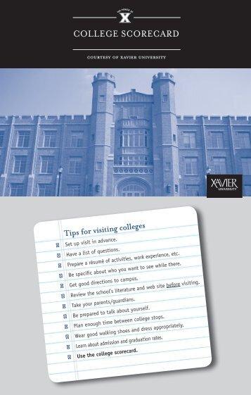 College SCoreCard - Xavier University