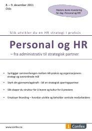 – fra administrativ til strategisk partner - Great Place to Work Institute
