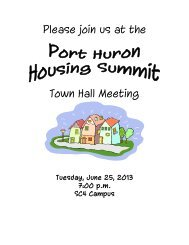 Please join us at the Town Hall Meeting - City of Port Huron