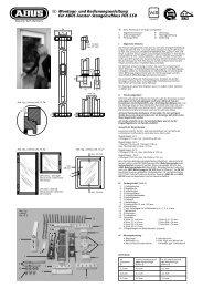 und Bedienungsanleitung für ABUS Fenster-Stangenschloss FOS 550