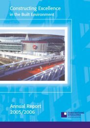 Constructing Excellence Annual Report 2005/2006