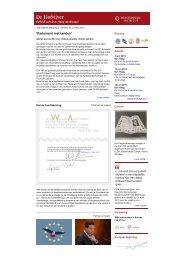 Nieuwsbrief De Hofvijver, 27 mei 2013 - Montesquieu Instituut