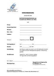 VEREINBARUNG - FC Affoltern am Albis