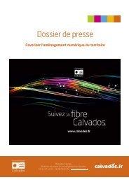 Dossier de presse - Fibre optique - Conseil général du Calvados