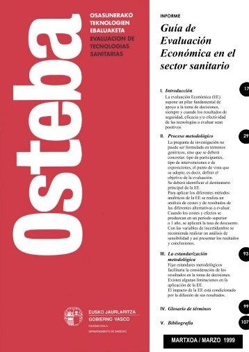 Guía de Evaluación Económica en el sector sanitario - Euskadi.net