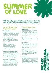 Summer of Love ideas - Macmillan Cancer