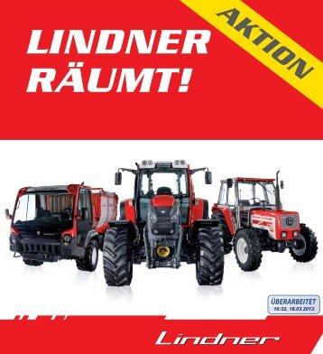 geht´s zur Räumungsliste - Lindner Traktoren