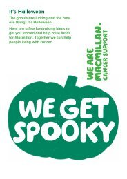 Halloween poster - Macmillan Cancer Support