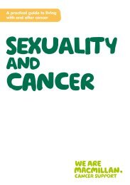 Sexuality and cancer - Macmillan Cancer Support