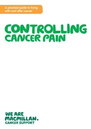 Controlling cancer pain - Macmillan Cancer