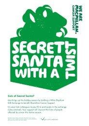 Secret Santa with a twist - Macmillan Cancer