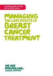 Managing the late effects of breast cancer ... - Macmillan Cancer