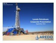 Laredo Petroleum: Corporate Presentation