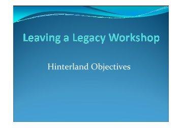 Hinterland Objectives - Mid West Development Commission