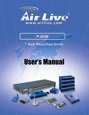 P-203N 3 Ports Wired Print Server - kamery airlive airlivecam