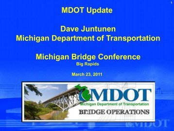 MDOT Update Presentation - Michigan's Local Technical Assistance ...