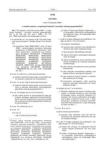 ustawa z dnia 5 listopada 2009 r. o zmianie ustawy o organizacji ...