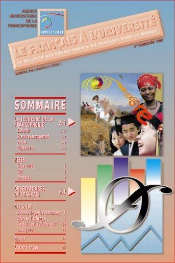 4ème année, 2ème trimestre - Le français à l'université - AUF