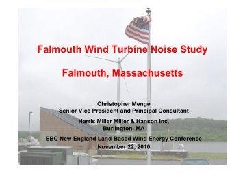 Falmouth Wind Turbine Noise Study Falmouth ... - HMMH