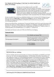 Anleitung NAV-Module an Multiwii Lite V1.0 / SE ... - XXL-Modellbau