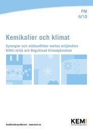 Kemikalier och klimat - Kemikalieinspektionen