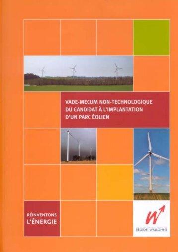 Vade mecum éolien - Portail de l'énergie en Région wallonne