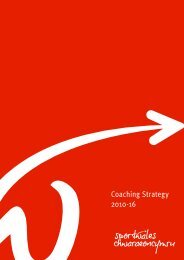 Coaching Strategy 2010-16 - Welsh Athletics