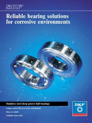 Reliable bearing solutions for corrosive environments Stainless ...