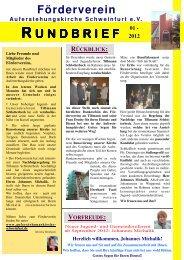 Rundbrief 01-2012-VII - Auferstehungskirche Schweinfurt