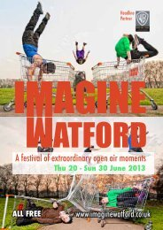 Download a low-res pdf of the Brochure - Watford flea magazine