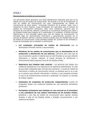 VISA I - Consulado General de los Estados Unidos Hermosillo, Mexico
