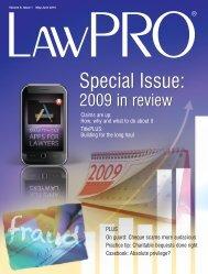LawPRO Mag Vol 9-#1 - practicePRO.ca