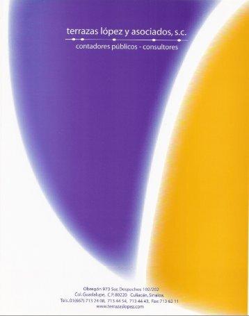 terrazas lópez y asociados, s.c. - Transparencia UAS - Universidad ...