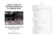 THE ULTIMATE BUMPER BOOK OF ... - Universität Tübingen