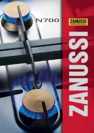 NordCook - Zanussi thermische Geräte | Serie N700 - NordCap