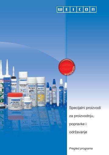 Specijalni proizvodi za proizvodnju, popravke i ... - Weicon.com