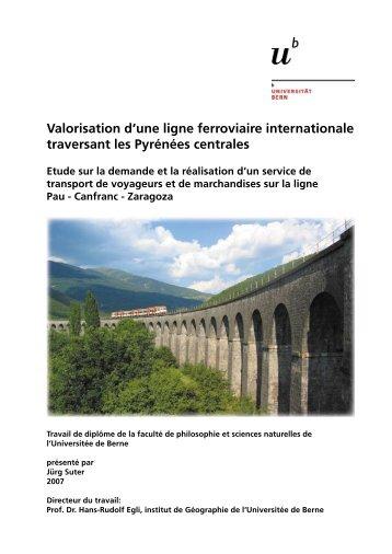 Valorisation d'une ligne ferroviaire internationale traversant les ...