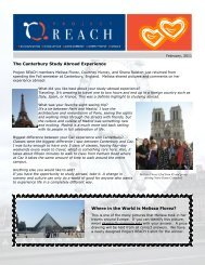 The Canterbury Study Abroad Experience Where in the World is ...