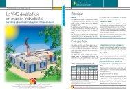 La VMC double flux en maison individuelle - Espace Info Energie ...